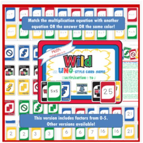 printable uno card game rules free uno wild multiplication game