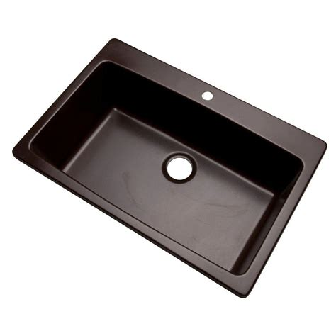 dual mount kitchen sink glacier bay waterbrook dual mount composite granite 33 in