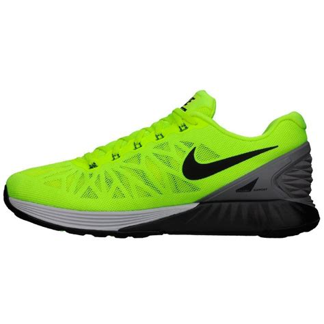 neon nike shoes womens neon green anthracite nike lunarglide 6 shoes for