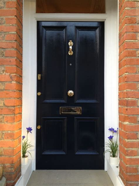navy blue door victorian front door in dark navy blue victorian home