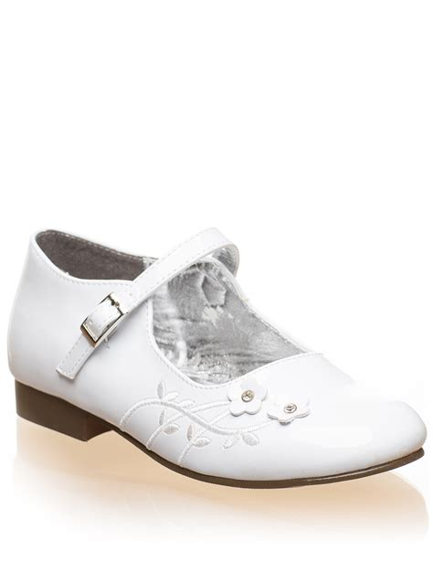 white company slippers white shoes flower shoes communion
