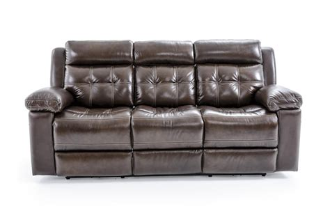 Futura Leather Sofas Futura Leather E1267 E1267 317 1148h Electric Motion Sofa With Tufting Baer S Furniture