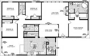 4 bedroom modular home wide mobile home floor plans images of