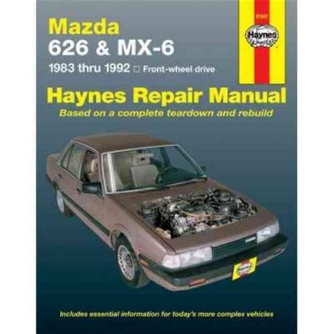 motor auto repair manual 1991 mazda mx 6 parking system mazda 626 mx6 fwd 1983 1992 haynes service repair manual sagin workshop car manuals repair