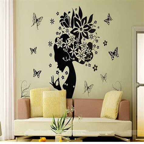 mirror wall stickers decor fower mirror wall stickers decorative vinyl home