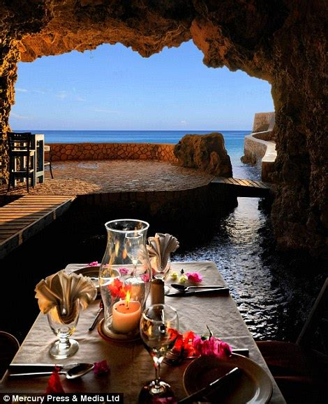 cave restaurant side of a cliff italy the caves hotel in jamaica where loved up couples can dine