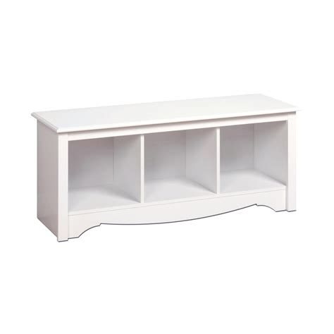 48 inch storage bench prepac 48 inch shoe storage cubby bench in white the