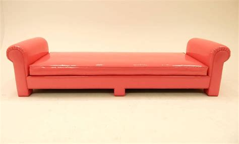 1974 Backless Sofa In Pink Naugahyde By California