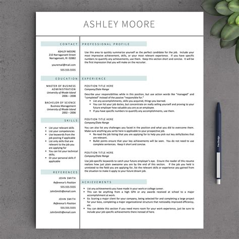 Resume Template Creative Free Word apple pages resume template apple pages resume