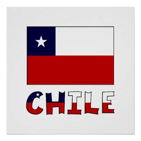 chile flag colors chile flag and name in colour zazzle