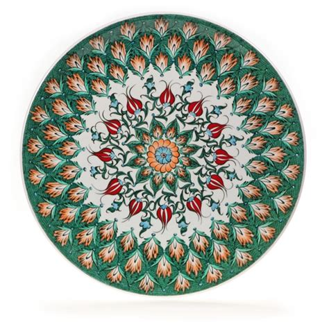 12 quot turkish flowers quot masterwork quot decorative plate