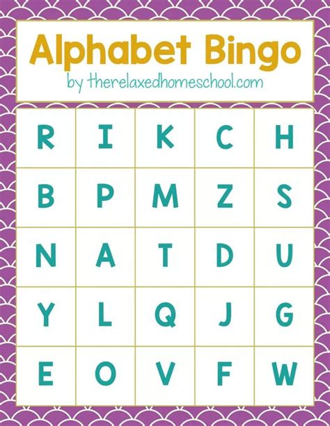 printable alphabet bingo 2180 best images about alphabet letters on pinterest