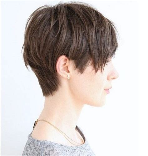 side and front view short pixie haircuts 27 cute straight hairstyles new season hair styles