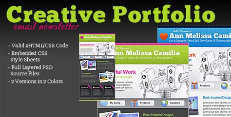 Creative Portfolio Html Email Template By Berber Themeforest Creative Html Email Templates