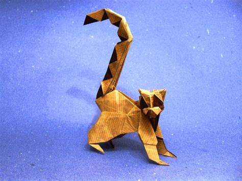 Origami Lemur - origami ring tailed lemur by orestigami on deviantart