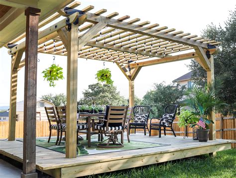 how to build a diy pergola with strong tie outdoor