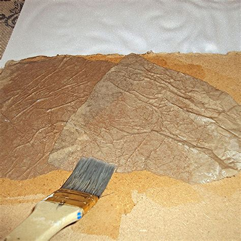 How To Make Paper Spray - hometalk how to create a faux leather finish using brown