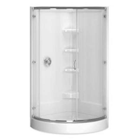 cerise 38 in x 38 in x 78 in shower stall in white