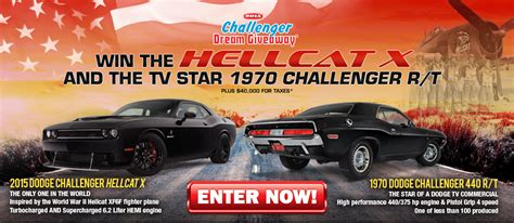 Dream Sweepstakes - win two challengers mopar blog