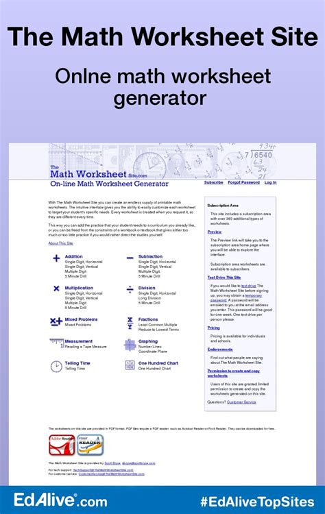 Worksheet Site by Math Worksheet Site The Math Worksheet Site