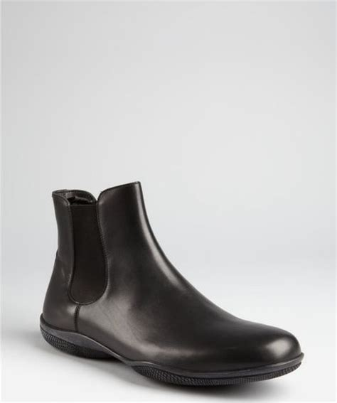 prada mens ankle boots prada prada sport black leather slipon ankle boots in