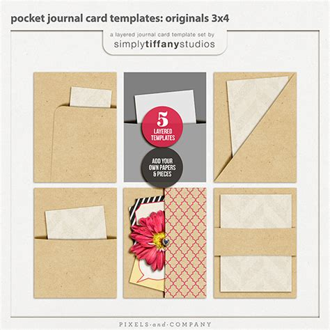 new pocket journal card templates simply tiffany studios