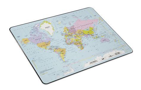 desk mat  world map durable