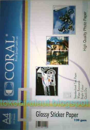 Kertas Glossy A3 Kertas Coral Adhesive Sticker Glossy A4 A3 120gr Pusat