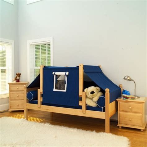 Maxtrix boys tent bed blue curtains and matching nightstands and dressers fun toddler room