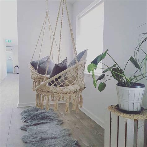 nordic style handmade knitted  hammock outdoor indoor