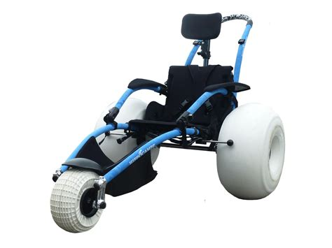 Collapsible Chair hippocampe beach and all terrain wheelchair vipamat