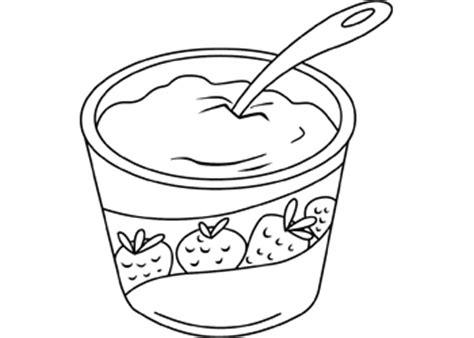 coloring page of yogurt art activities yogurt b w