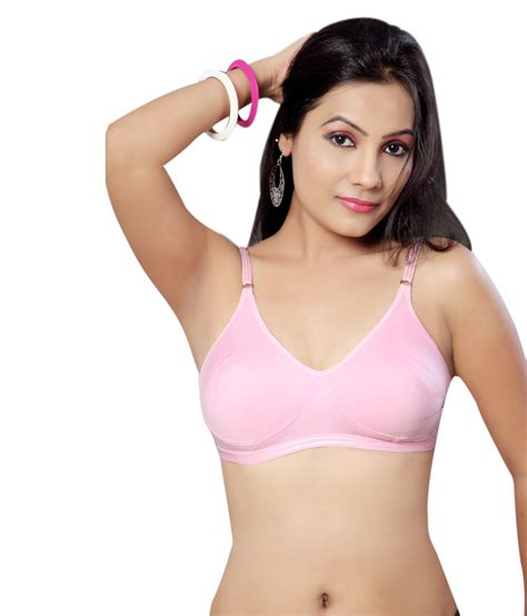 Langerie Cotton buy anny pink cotton bra at best prices in