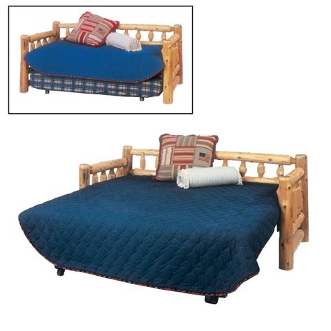 Log Bunk Beds With Trundle Shop Fireside Lodge Furniture 1015 Cedar Day Bed With Optional Trundle At Atg Stores Browse Our