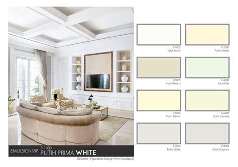 sentuhan cat rumah putih  mowilex emulsion vip