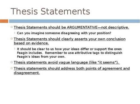 thesis statements about education thesis guidelines for the college of education
