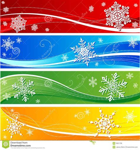 winter snowflake banner royalty  stock image image