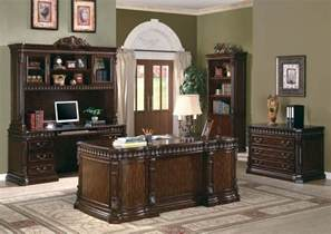 Home Furniture Sets Traditional Carved Desk Furnishing Wood Home
