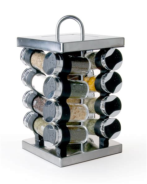 Metal Spice Rack by Gsr3320 Linx 16 Jar Stainless Steel Spice Rack Products