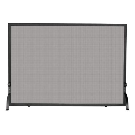 small fireplace screen uniflame olde world iron single panel fireplace screen