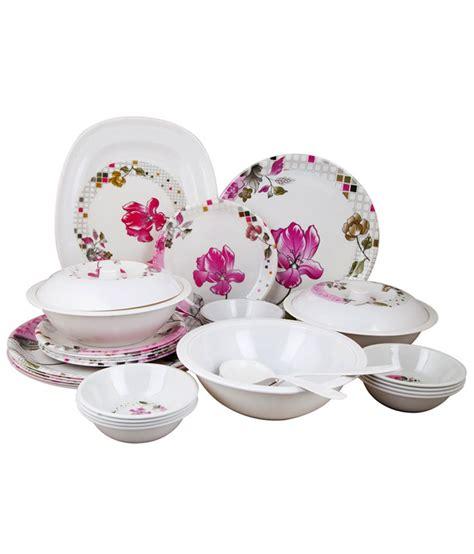Dinner Set Agatha Flower birde pink flower melamine dinner set 32 pcs buy at best price in india snapdeal