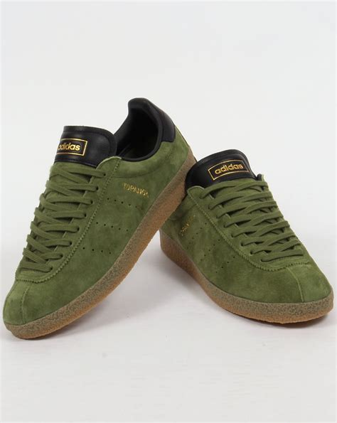 Adidas Green adidas topanga clean trainers craft green black originals