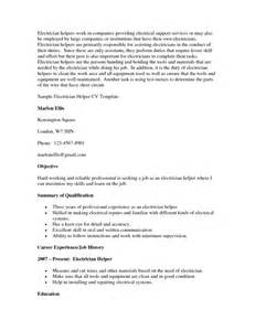 Assistant Electrician Sle Resume by Resume Related To Electrician Sales Electrician Lewesmr