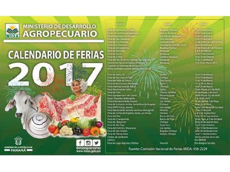 Calendario Para El 2017 Conozca El Calendario De Ferias Para El 2017