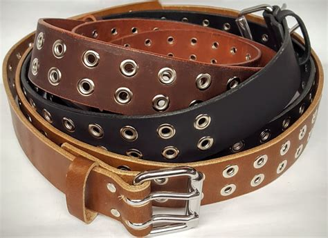1 25 inch desk grommet double hole leather belt with grommets 1 25 inches wide