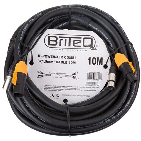 10 Meter Xlr Cable - briteq ip powercon xlr combi kabel 10 meter