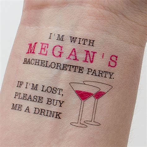 bachelorette tattoos mexican bachelorette temporary tattoos if lost buy