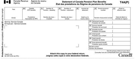 t4a p statement of canada pension plan benefits canada ca