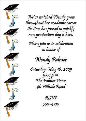 Graduation Invitation Wordings And Etiquette Graduation Invitations Pinterest Popular Middle School Graduation Program Template