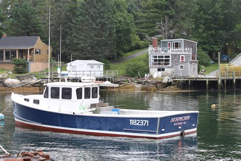 wooden boat maine lobster boat boothbay harbor maine maine the way